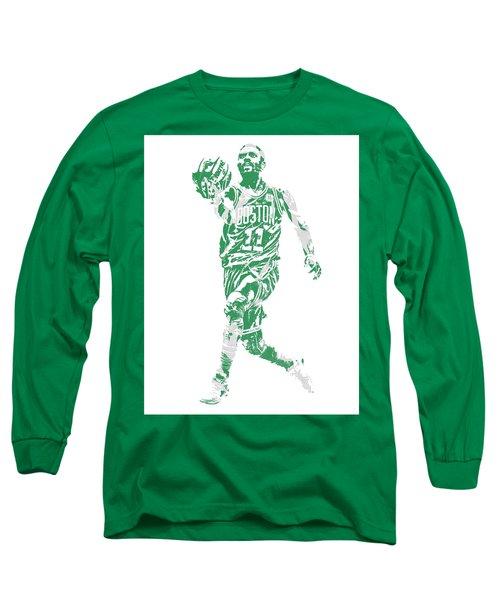 Kyrie Irving Boston Celtics Pixel Art 43 Long Sleeve T-Shirt