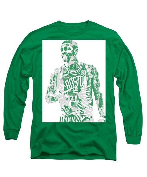 Kyrie Irving Boston Celtics Pixel Art 7 Long Sleeve T-Shirt