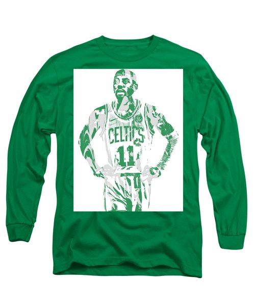 Kyrie Irving Boston Celtics Pixel Art 8 Long Sleeve T-Shirt