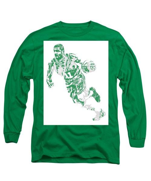Kyrie Irving Boston Celtics Pixel Art 9 Long Sleeve T-Shirt
