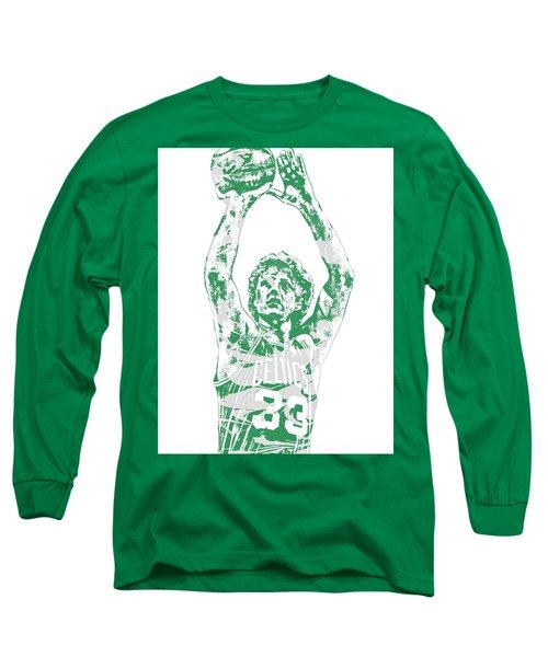 Larry Bird Boston Celtics Pixel Art 5 Long Sleeve T-Shirt