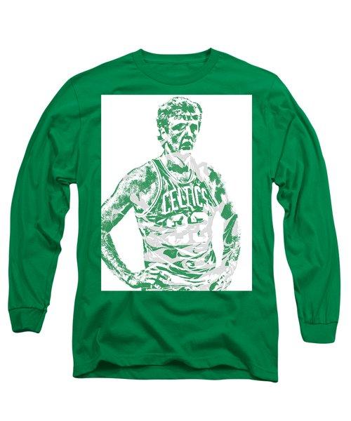 Larry Bird Boston Celtics Pixel Art 6 Long Sleeve T-Shirt