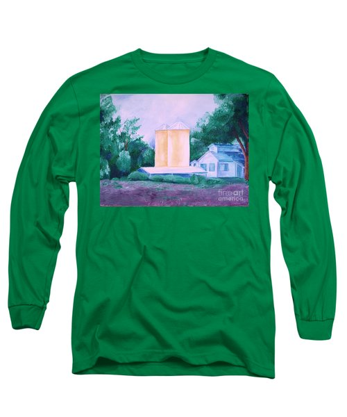 Long Sleeve T-Shirt featuring the painting Lavender Farm Albuquerque by Eric  Schiabor