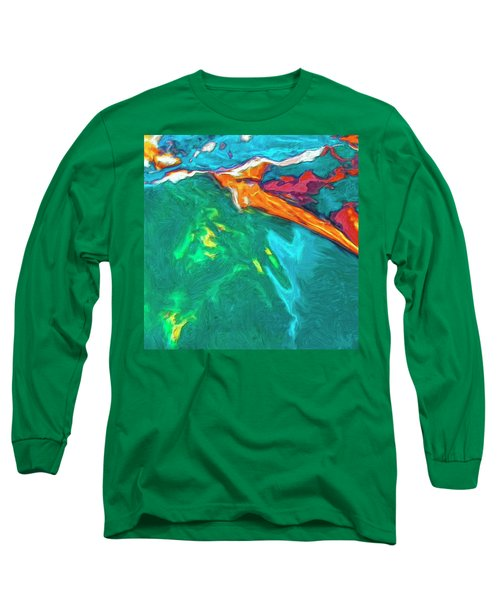Long Sleeve T-Shirt featuring the painting Lies Beneath by Dominic Piperata
