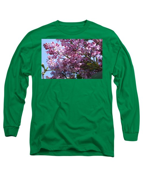 Lilacs In Bloom 2 Long Sleeve T-Shirt by Barbara Yearty