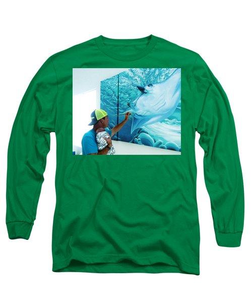 Long Sleeve T-Shirt featuring the digital art Little Helper by William Love