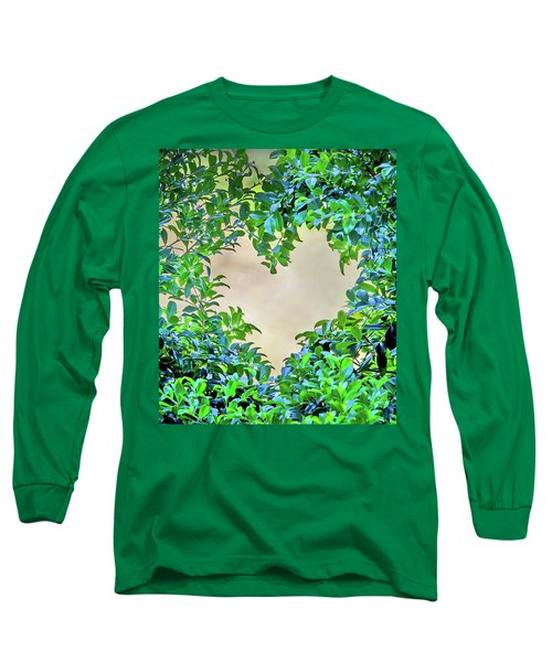 Long Sleeve T-Shirt featuring the photograph Love Leaves by Az Jackson