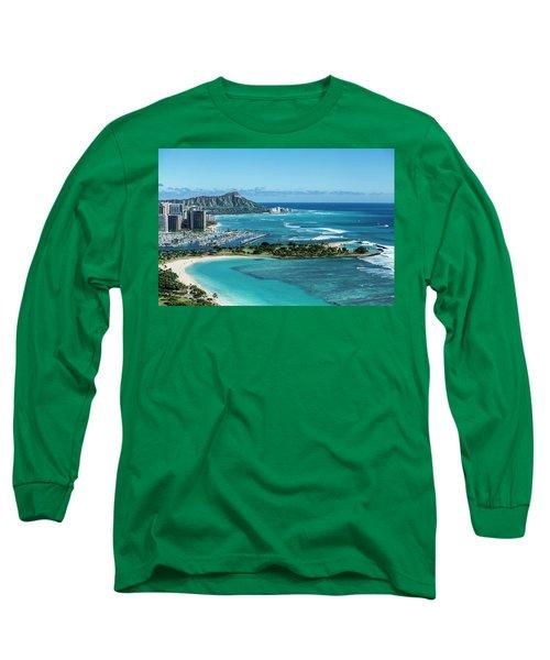 Magic Island To Diamond Head Long Sleeve T-Shirt