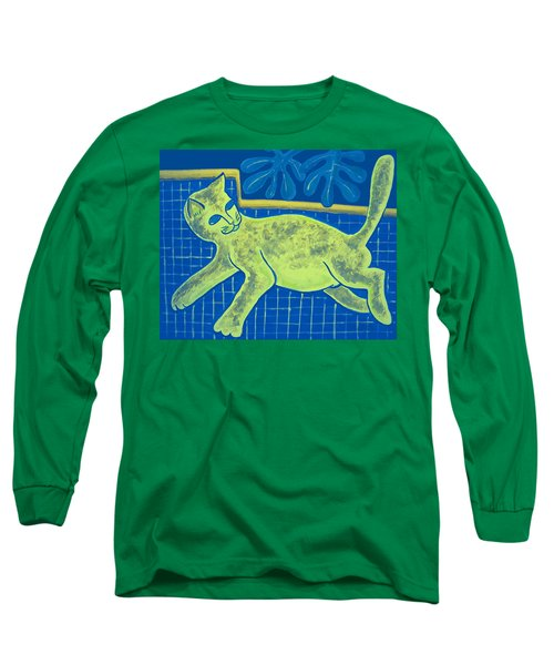 Matisse's Cat In Reverse Long Sleeve T-Shirt by George I Perez