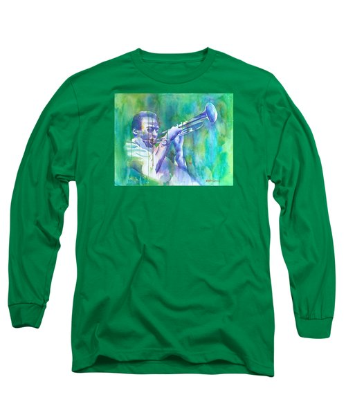 Miles Is Cool Long Sleeve T-Shirt by Debbie Lewis