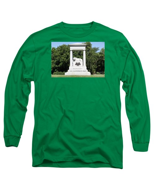 Monument At Higginsville   Missouri Long Sleeve T-Shirt