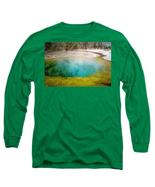 Morning Glory Pool Yellowstone National Park Long Sleeve T-Shirt