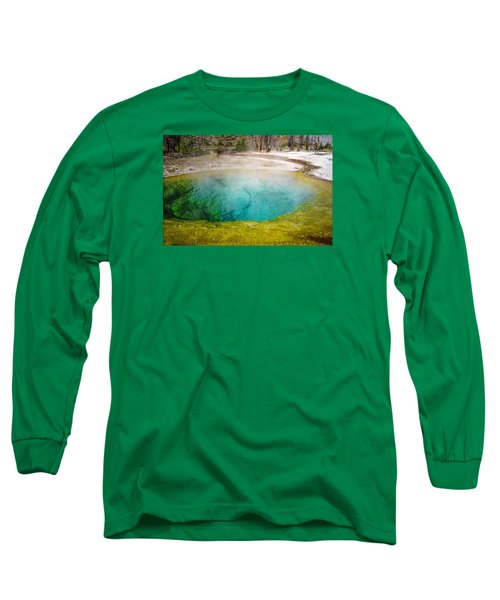 Morning Glory Pool Yellowstone National Park Long Sleeve T-Shirt