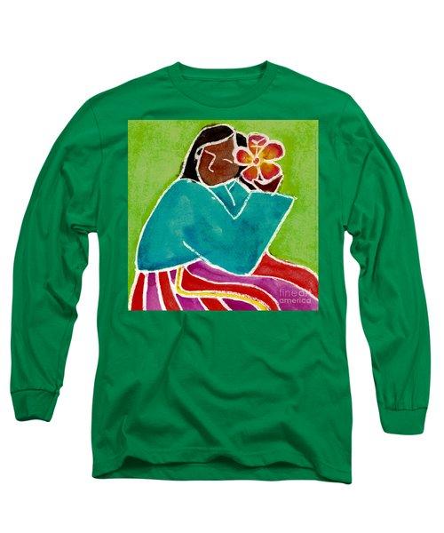 Native Girl Long Sleeve T-Shirt