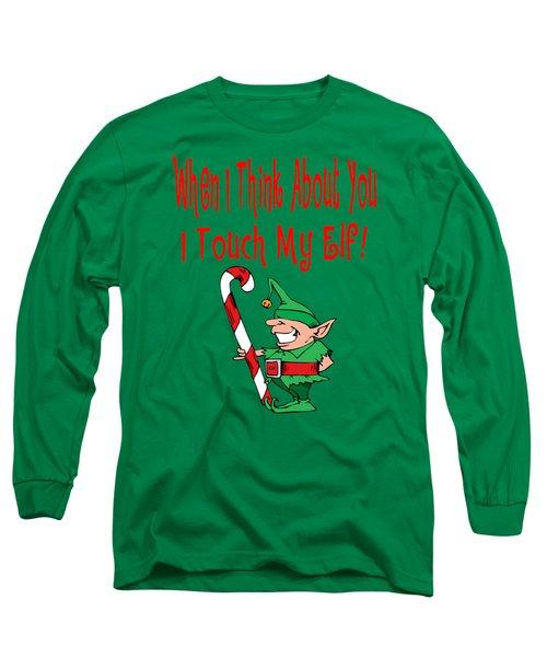 Naughty Christmas Elf Long Sleeve T-Shirt