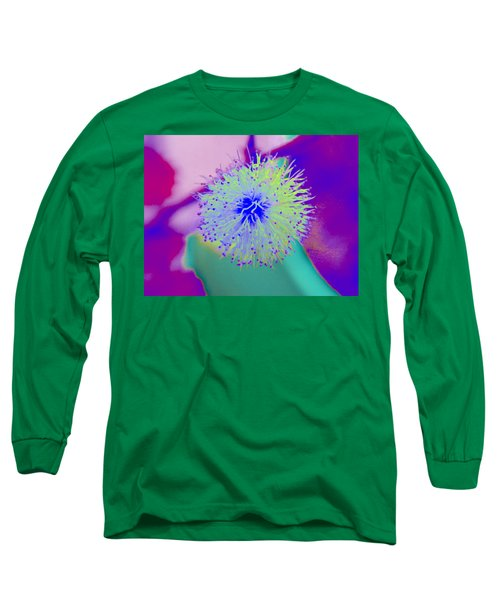 Neon Green Puff Explosion Long Sleeve T-Shirt by Samantha Thome