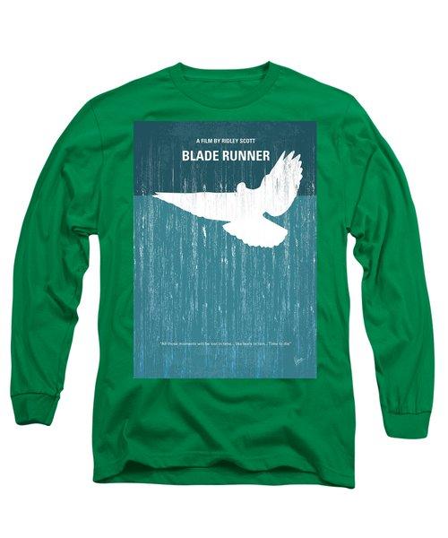 No011 My Blade Runner Minimal Movie Poster Long Sleeve T-Shirt by Chungkong Art