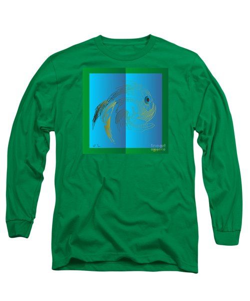 Long Sleeve T-Shirt featuring the digital art On The Page 2015 by Leo Symon