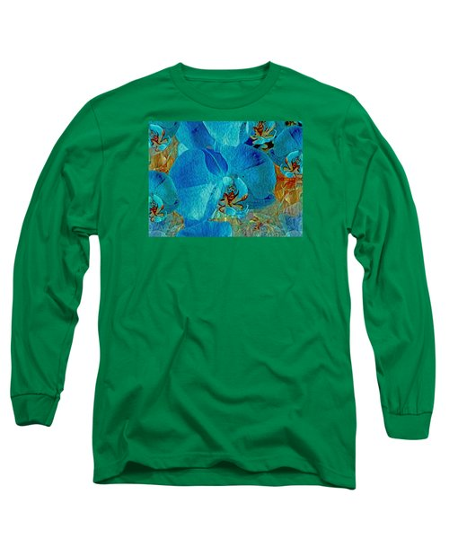 Orchid Reverie 10 Long Sleeve T-Shirt by Lynda Lehmann