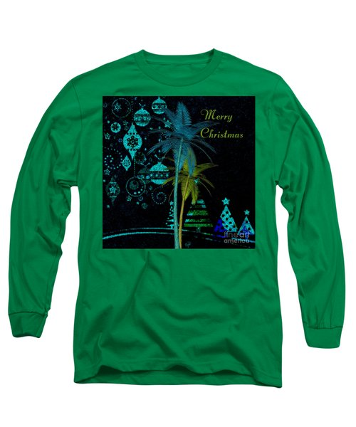 Palm Trees Merry Christmas Long Sleeve T-Shirt