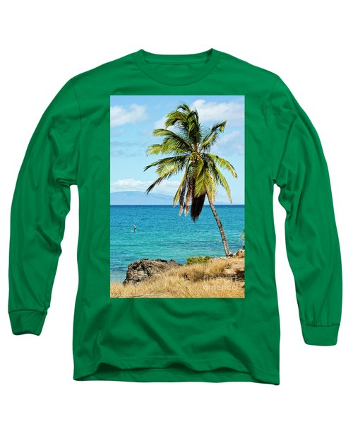 Long Sleeve T-Shirt featuring the photograph Palms On Hawaiian Beach 12 by Micah May