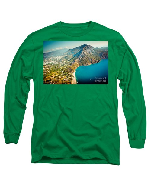 Paragliding Fly Above Laguna Artmif.lv Long Sleeve T-Shirt