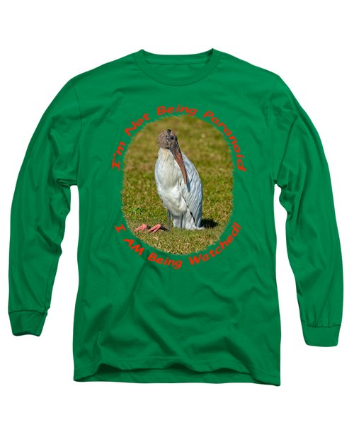 Paranoid Woodstork Long Sleeve T-Shirt