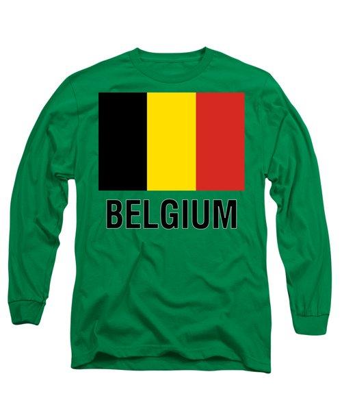 Parchment Flag Belgium Long Sleeve T-Shirt