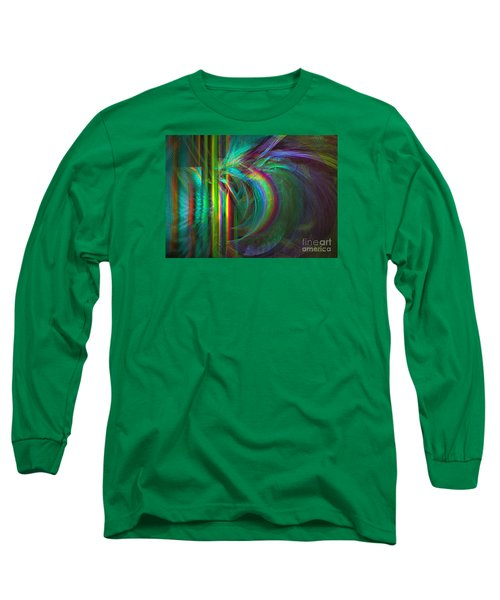 Penetrated By Life - Abstract Art Long Sleeve T-Shirt by Sipo Liimatainen