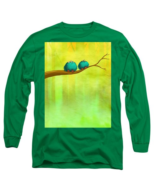 Perching Fluffs Long Sleeve T-Shirt
