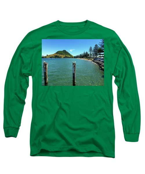 Pilot Bay Beach 1 - Mt Maunganui Tauranga New Zealand Long Sleeve T-Shirt by Selena Boron