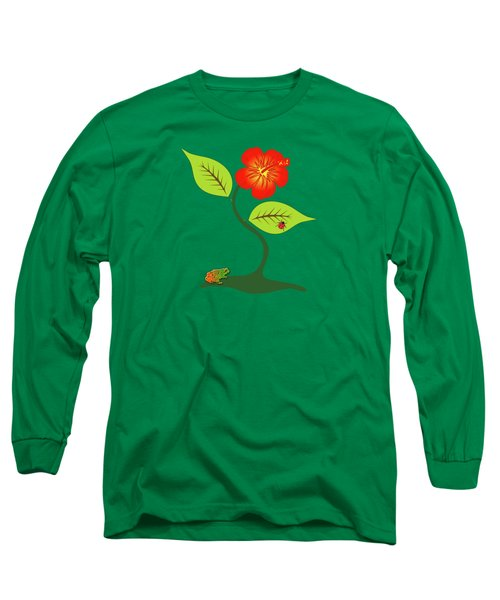 Plant And Flower Long Sleeve T-Shirt by Gaspar Avila