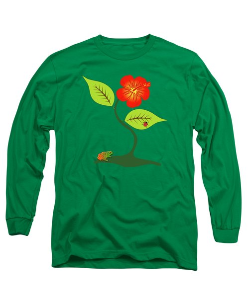 Plant And Flower Long Sleeve T-Shirt
