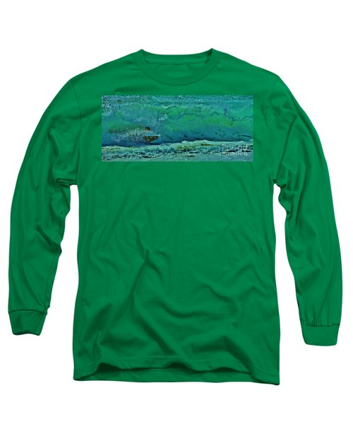 Playing In The Shore Break Long Sleeve T-Shirt by Craig Wood