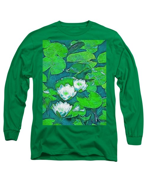 Long Sleeve T-Shirt featuring the photograph Pond Lily 2 by Pamela Cooper
