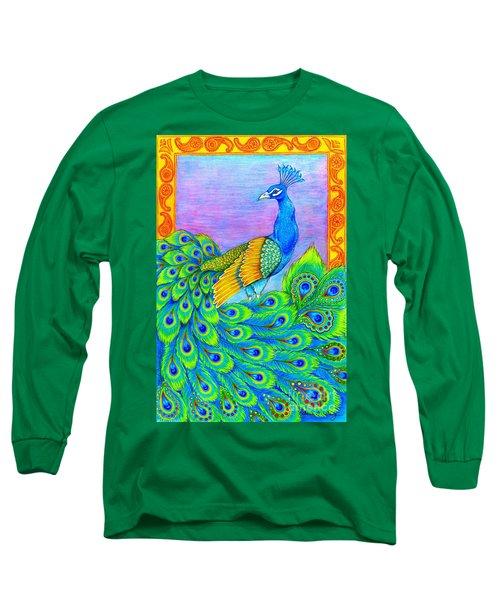 Pretty Peacock Long Sleeve T-Shirt
