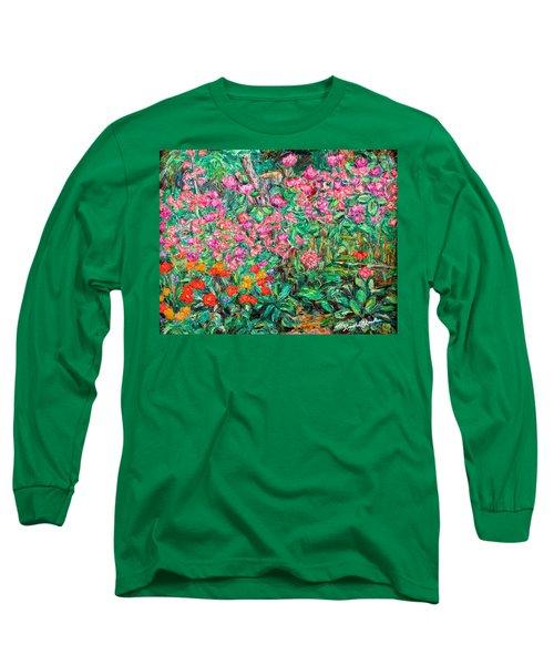 Radford Flower Garden Long Sleeve T-Shirt by Kendall Kessler