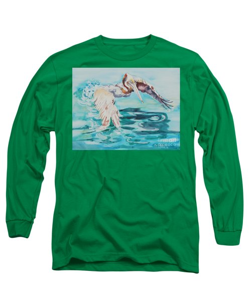 Ready To Take Off Long Sleeve T-Shirt by Mary Haley-Rocks