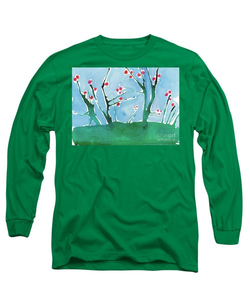 Red Berry Flowers Long Sleeve T-Shirt