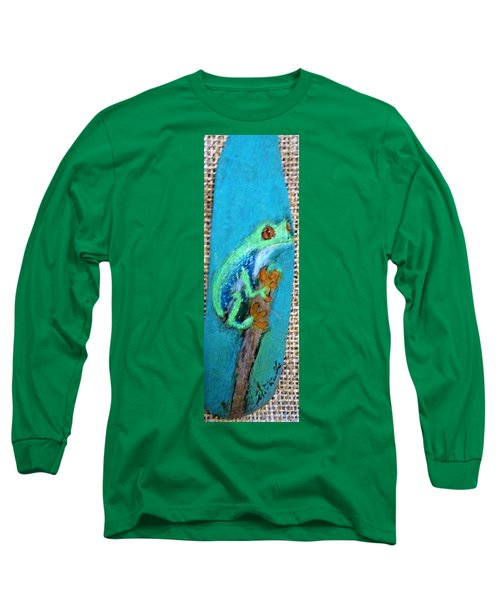 Red-eyed Tree Frog Long Sleeve T-Shirt by Ann Michelle Swadener