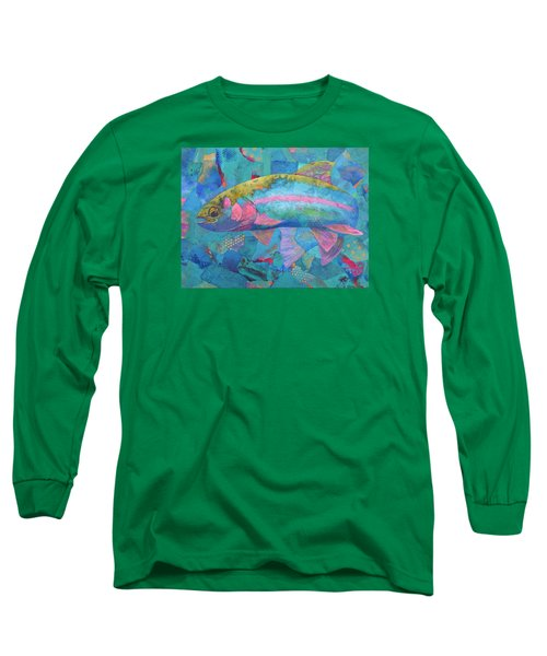 Long Sleeve T-Shirt featuring the painting River Bow by Nancy Jolley