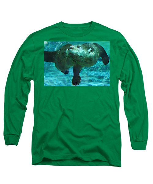 River Otter Long Sleeve T-Shirt by Steve Karol