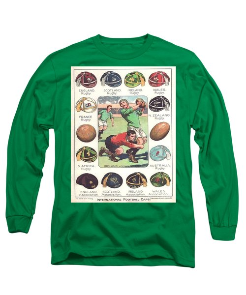 Rugby Caps - Vintage Long Sleeve T-Shirt by Pg Reproductions