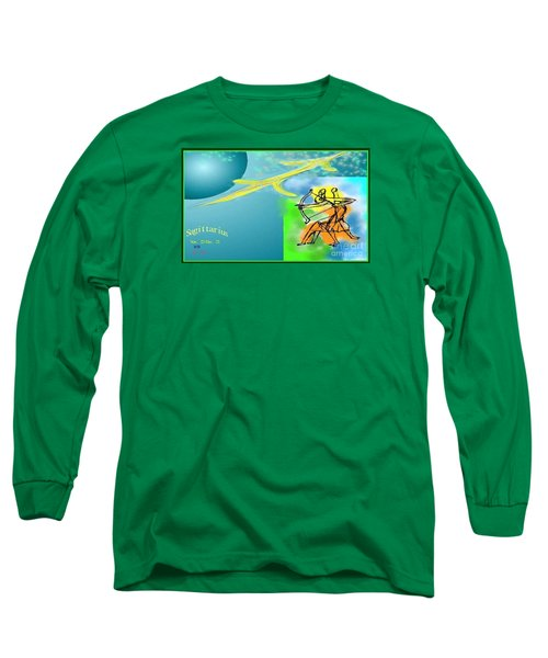 Long Sleeve T-Shirt featuring the digital art Sagittarius by The Art of Alice Terrill