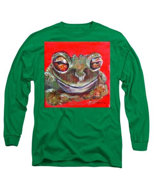 Satisfied Froggy  Long Sleeve T-Shirt by Barbara O'Toole
