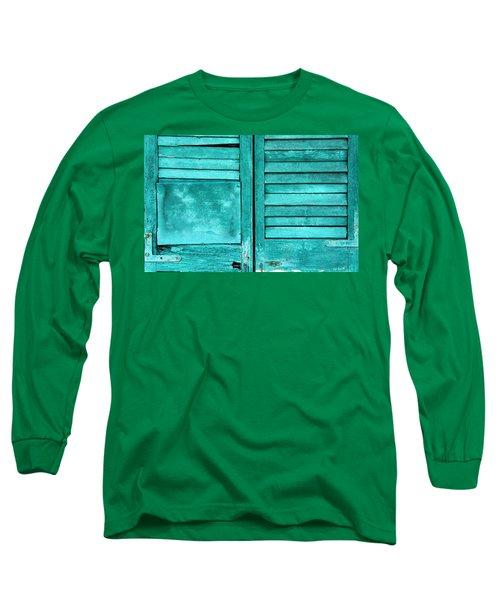 Sea Foam Shutters Long Sleeve T-Shirt