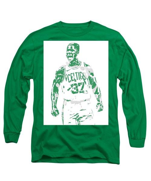 Semi Ojeleye Boston Celtics Pixel Art 1 Long Sleeve T-Shirt
