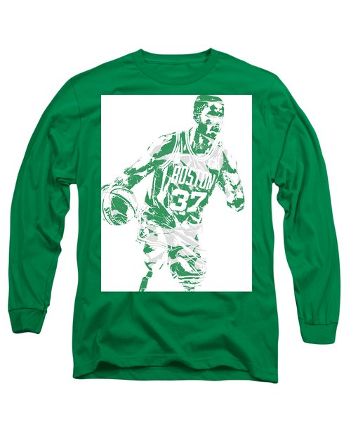 Semi Ojeleye Boston Celtics Pixel Art 2 Long Sleeve T-Shirt