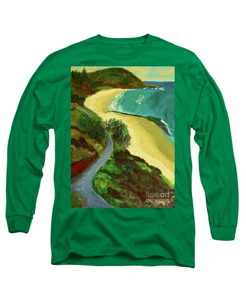 Long Sleeve T-Shirt featuring the painting Shelly Beach by Paul McKey