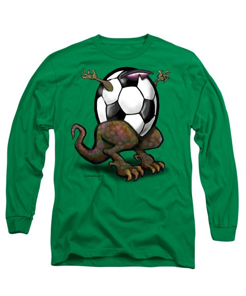 Soccer Zilla Long Sleeve T-Shirt by Kevin Middleton